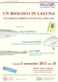 Un biologo in laguna Lettere di Umberto D'Ancona