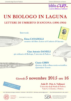 Locandina: Un biologo in laguna. Lettere di Umberto D'Ancona