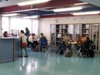 L'atrio della biblioteca
